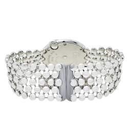 Cartier Mother Of Pearl 18K White Gold Diamonds Ballon Blanc De Cartier 3723 WE902072 Women's Wristwatch 30 mm