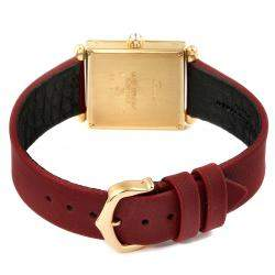 Cartier Silver Diamonds 18k Yellow Gold Tank Obus WB800351 Women's Wristwatch 24.5 MM