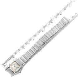 Cartier Silver Stainless Steel Santos Galbee W20056D6 Women's Wristwatch 24 x 24 MM