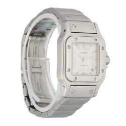 Cartier Silver Stainless Steel Santos Galbee 2423 Automatic Women's Wristwatch 24 MM