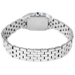 Cartier Silver Stainless Steel Santos Demoiselle W25064Z5 Women's Wristwatch 20 MM