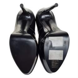 Casadei Two Tone Glitter Patent Leather Platform Pumps Size 38