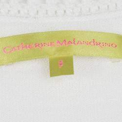 Catherine Malandrino Off White Crochet Knit Fitted Maxi Dress P / XS