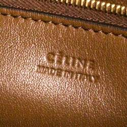Celine Brown Suede Sangle Bucket Bag