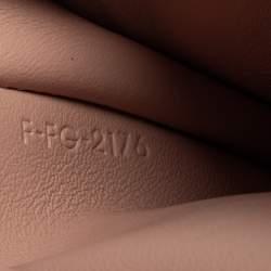 محفظة سيلين حمالة متعددة الاستخدام جلد محبب وردي فاتح/ حمراء