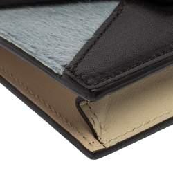 حافظة بطاقات سيلين دايموند جلد عجل وجلد متعددة الألوان