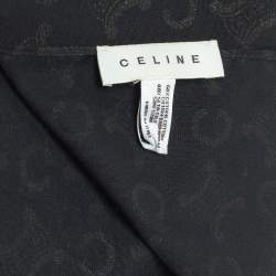 Celine Graphite Logo Monogram Cotton Scarf