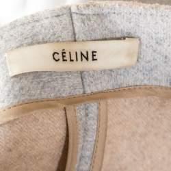 Celine Grey Felt Wool Sleeveless Structured Jacket M