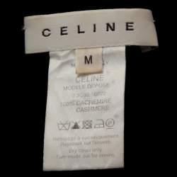 Celine Black Cashmere Knit Long Sleeve Top M