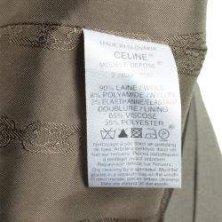 Celine Green Wool A-Line Skirt M