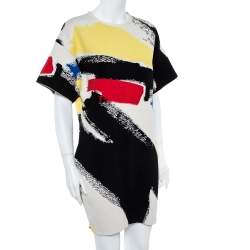Céline Multicolor Graffiti Print Oversized Shift Dress M