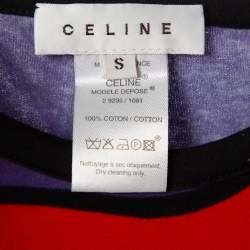 Celine Multicolor Cotton Guy Peellaert Graphic Monogram Top S