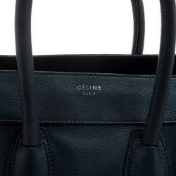 Celine Navy Blue Leather Mini Luggage Tote