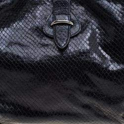 Celine Black Python Tote