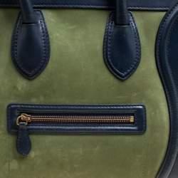 Celine Tri Color Leather and Nubuck Leather Mini Luggage Tote