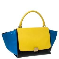 حقيبة سيلين ترابيز جلد  متعددة الألوان متوسطة