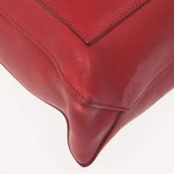 Celine Red Leather Envelope Pocket Tote