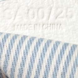 Celine Blue/White Monogram Canvas and Leather Satchel