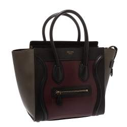 Celine Tri Color Leather Micro Luggage Tote