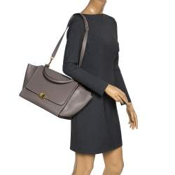 Celine Grey Leather Medium Trapeze Top Handle Bag