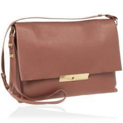 Celine Brown Calfskin Leather Blade Flap Bag