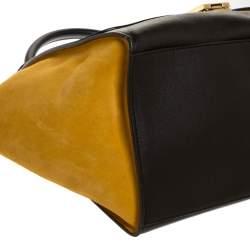 Celine Multicolor Leather and Suede Medium Trapeze Top Handle Bag