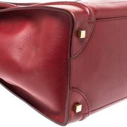 Celine Red Leather Mini Luggage Tote