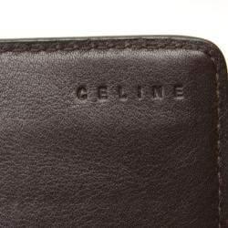 Celine Brown Canvas Macadam Wallet
