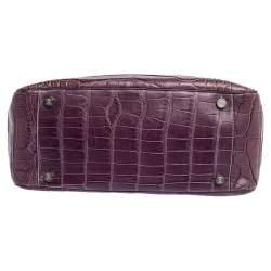 Celine Purple Crocodile Boogie Tote