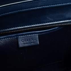 Celine Blue Leather Nano Luggage Tote