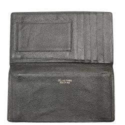 Celine Black Leather Long Wallet