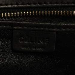 Celine Blue/Black Python/Leather and Suede Nano Luggage Tote
