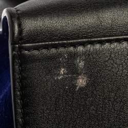 Celine Tri Color Leather and Suede Medium Trapeze Top Handle Bag