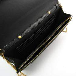 Celine Black/Navy Blue Suede Chain Shoulder Bag