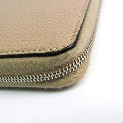 Celine Beige Leather Large Ziped Multifunction Wallet