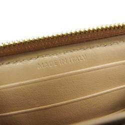 Celine Beige C Charm Quilted Leather Wallet