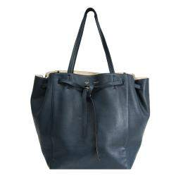 Celine Navy Blue Leather Hippo Phantom Tote Bag