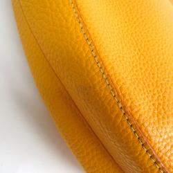 Celine Yellow Leather Hobo Bag