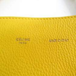 Celine Yellow Leather Hippo Phantom Tote Bag