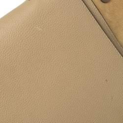حقيبة سيلين ترابيز جلد أحمر وسويدي متوسطة