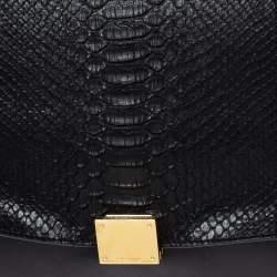 Celine Multicolor Leather and Python Medium Trapeze Bag