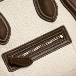 Celine Multicolor Leather and Suede Nano Luggage Tote