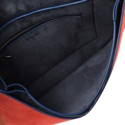 Celine Multicolor Leather and Suede Diamond Clutch Bag