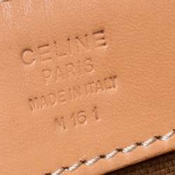 Celine Brown Macadam Coated Canvas and Leather Tote