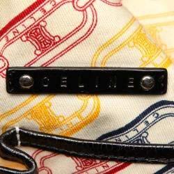 Celine Black Patent Leather Vintage Tote Bag