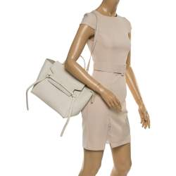 Celine Cream Leather Mini Belt Top Handle Bag