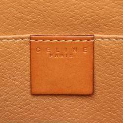 Celine Brown Coated Canvas  Macadam Clutch Bag