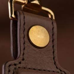 Celine Brown Leather Fold-Over Bag