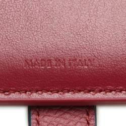 Celine Red Leather Multifunction Strap Wallet