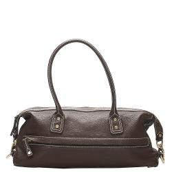 Celine Brown Leather Satchel
